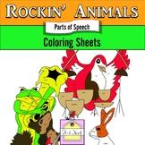 Rockin' Animals ELA Coloring Sheets