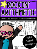 Addition and Subtraction Double Digit Math Facts With and Without Regrouping