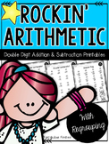 Addition and Subtraction Double Digit Math Facts with Regrouping Worksheets