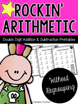 Addition and Subtraction Double Digit Math Facts without Regrouping Worksheets