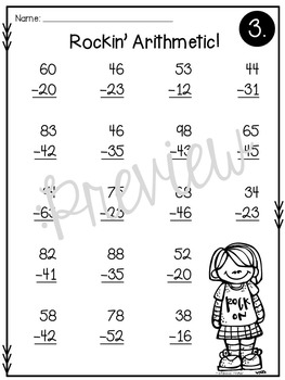 addition and subtraction double digit math facts without regrouping worksheets. Black Bedroom Furniture Sets. Home Design Ideas