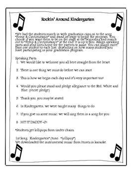 welcome for kindergarten graduation program