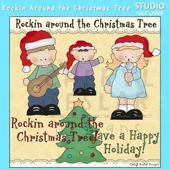 Rockin Around The Christmas Tree Clip Art  C. Seslar