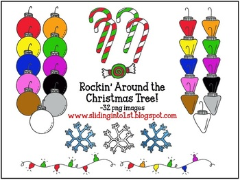 Rockin' Around the Christmas Tree {clipart}