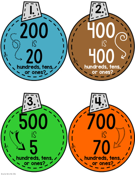 Rockin' Around the Classroom Christmas Math Centers (PLACE VALUE to 1000)