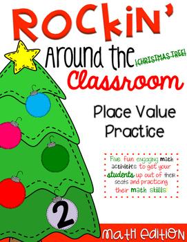 Rockin' Around the Classroom Christmas Math Centers (PLACE