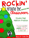 Rockin' Around the Classroom Christmas Math Centers (double digit addition)