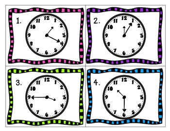 Rockin' Around the Clock {Fun Activities to Practice Telling Time by 5 min.}