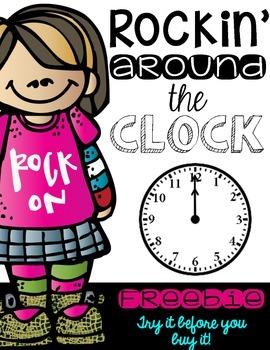 Rockin' Around the Clock:  Teaching How to Tell Time FREEBIE