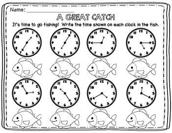 Rockin' Around the Clock {Telling Time by 5 min.} FREEBIE!!