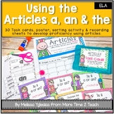 Adjectives: Articles A, An, & The {Task Cards, Poster, & Sorting Activity}