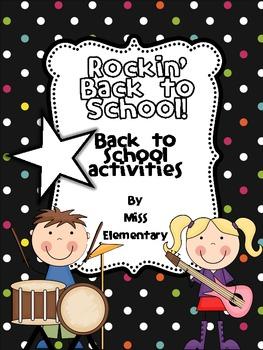 Rockin' Back to School! [Back to School Activities]