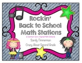 Rockin' Back to School Math Stations