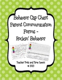 Rockin' Behavior 'Clip Chart' Behavior Tracker Parent Communication Forms