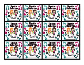 Rockin Behavior - Rock Star (Rock-n-Roll) themed punch card