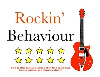 Rockin' Behaviour Music Theme Set (all grades)