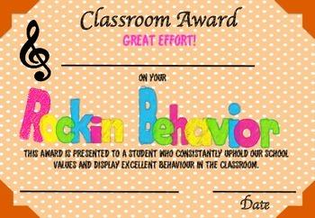 Rockin' Behviour Certificates