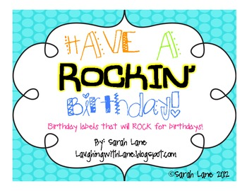 Rockin' Birthday Balloon Labels