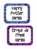 Rockin' Book Basket Labels