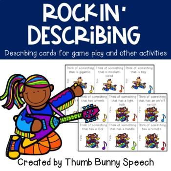 Rockin' Describing Cards for Speech and Language
