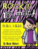 Rockin' First Grade Geometry {Common Core Aligned 1.G.1, 1.G.2}