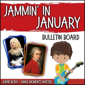 Jamin' in January -- Music Bulletin Board Set