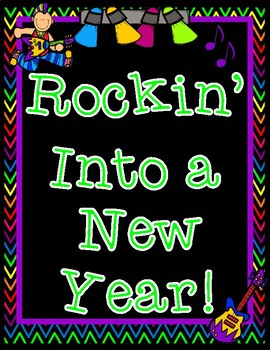 Rockin' Into a New School Year All About Me Rock Star Booklet