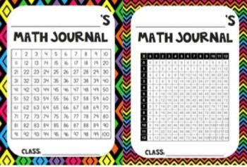 Math Journals - Basic Set-Up