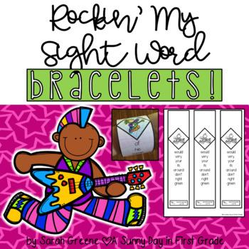 Rockin' My Sight Word Bracelets!