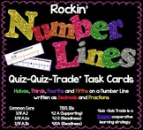 MATH TEST PREP: Number Lines Task Cards
