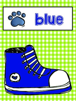 Rockin' Our Color Shoes - Back to School Color Word Posters