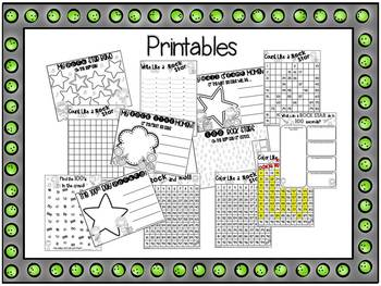 Rockin' Out on the 100th Day of School {Activities, Printables & a Craftivity}