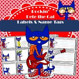 Rockin' Pete the Cat Labels & Name Tags
