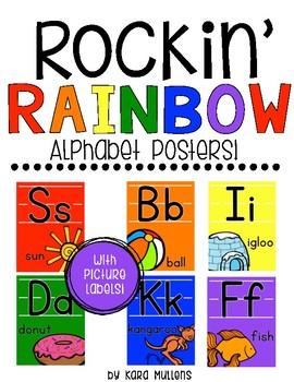 Rockin' Rainbow Alphabet Posters