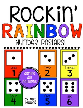 Rockin' Rainbow Number Posters