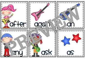 Rockin' Readers!  Dolch 1st Grade Sight Vocabulary Flashcards
