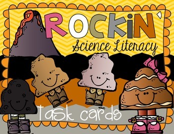 Rock and Mineral Science Literacy Task Cards & Daily Activ