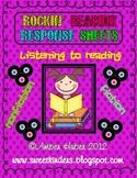 Rockin' Reading Response Sheets
