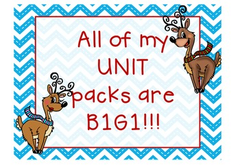 Rockin' Reindeer 1st Grade Math & ELA Pack (17 CCSS Centers)