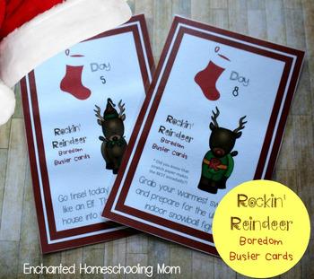 Rockin' Reindeer Boredom Buster Cards