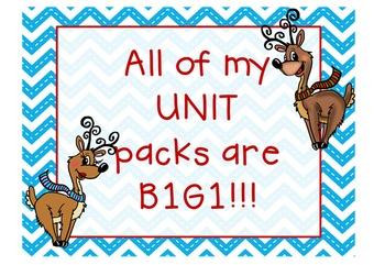 Rockin' Reindeer JUMBO Math & ELA Pack (32 K-1 CCSS Centers)