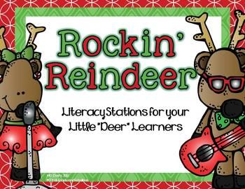 "Rockin' Reindeer--Literacy Stations for Your Little ""Deer"""
