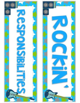 Rockin' Responsibilities Job Chart {Editable}