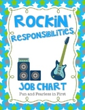 Rockin' Responsibilities Job Chart {Editable}