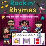 Rockin' Rhymes Rhyming Words Digital Boom Cards Distance Learning