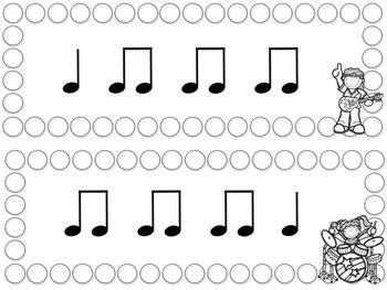 Rockin' Rhythm Flash Cards -Quarter and Eighth Notes