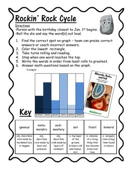 Rockin' Rocks Roll Read and Graph