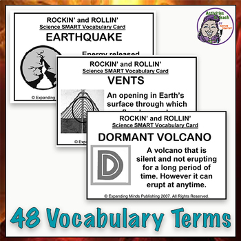 Rockin' & Rollin' Earth Science Bingo - Volcanoes & Plate Tectonics
