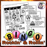 Rockin' & Rollin' Earth Science Bingo - Volcanoes & Plate