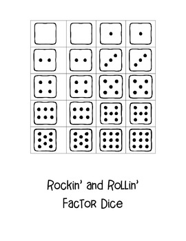 Rockin' & Rollin' Factors Dice Game! Ready-to-Go Dice Game with Game Board
